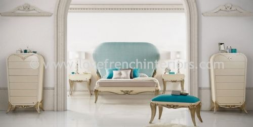 Spacium Bedroom Collection in Blue and Beige